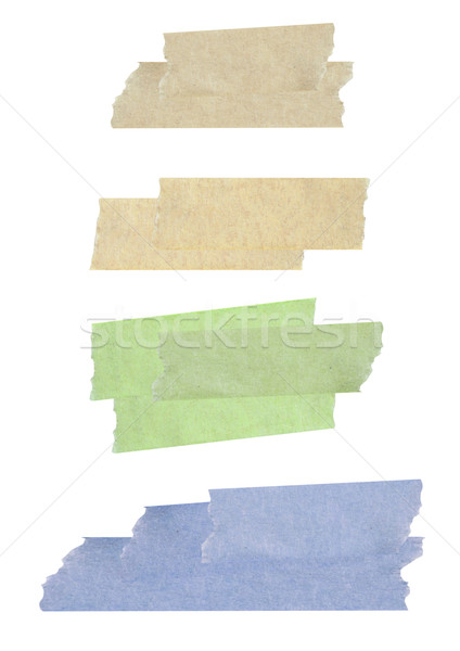Collection of different stripes of masking tapes on white backgr Stock photo © happydancing