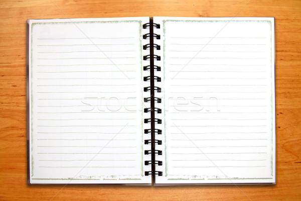 Blanco cuaderno textura madera casa Foto stock © happydancing