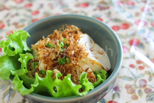 Tofu száraz hal falatozó étel ebéd Stock fotó © happydancing