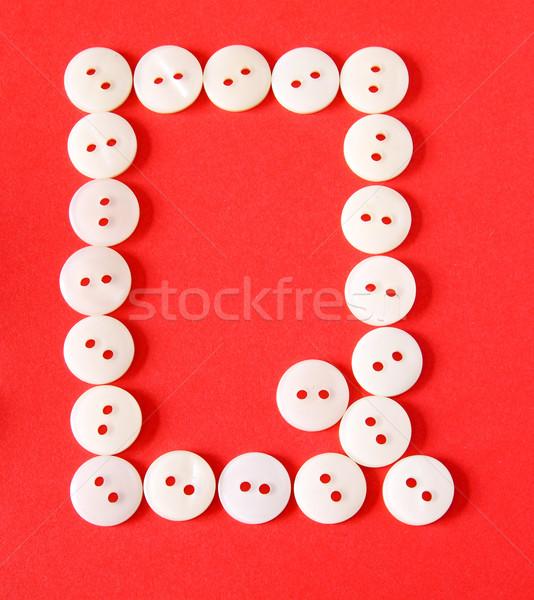 Düğmeler kırmızı kâğıt soyut dizayn Stok fotoğraf © happydancing