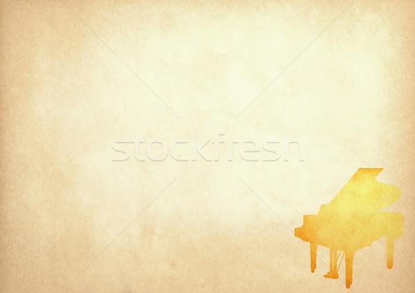 Stok fotoğraf: Grunge · görüntü · piyano · Eski · kağıt · bo · kâğıt
