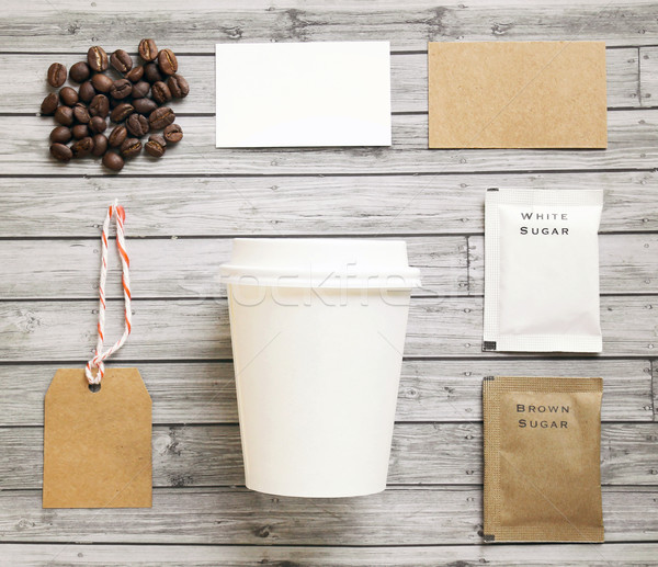 Coffee identity mockup set with retro filter effect Stock photo © happydancing