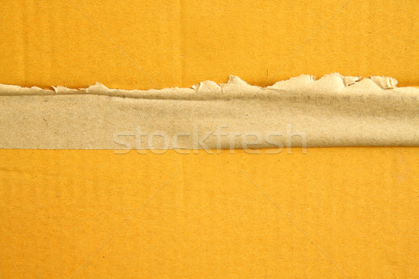 Ripped brown tape on corrugated paper Stock photo © happydancing