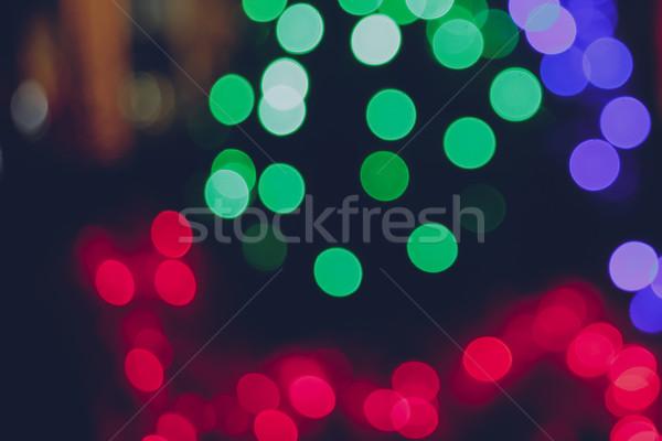 Defocused bokeh lights for christmas background Stock photo © happydancing