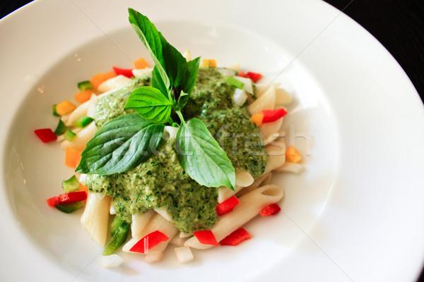 пасты шпинат кремом соус ресторан сыра Сток-фото © happydancing