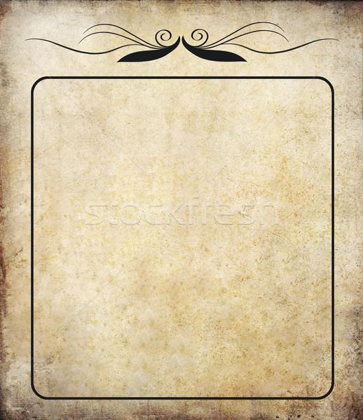 Stockfoto: Oude · grunge · papier · label · vintage · textuur