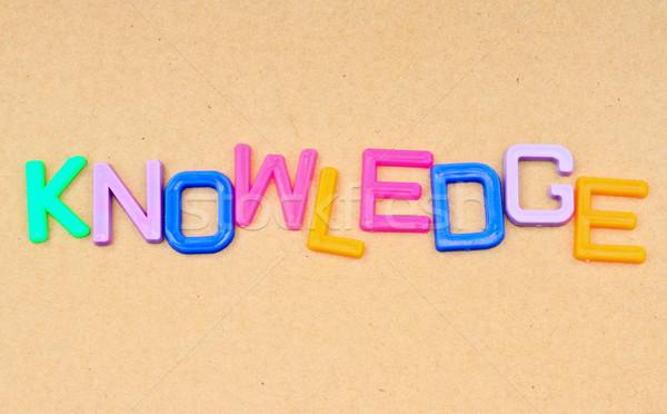 знания красочный игрушку письма бумаги образование Сток-фото © happydancing