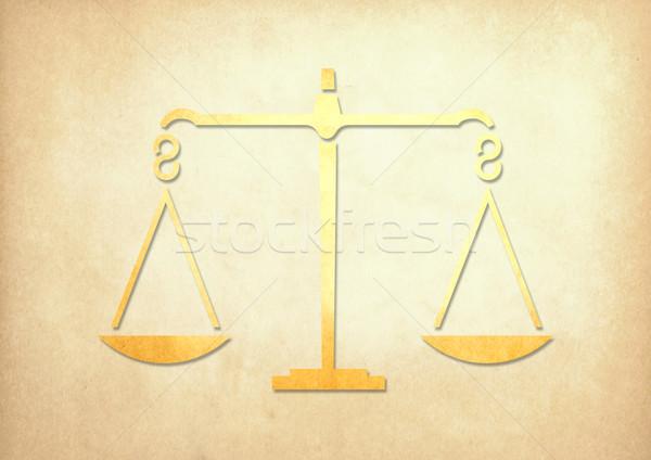 Peso escalas grunge papel justicia financiar Foto stock © happydancing