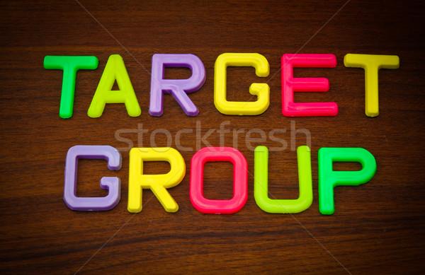 Target groep kleurrijk speelgoed brieven hout Stockfoto © happydancing