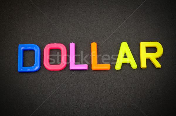 Dollar kleurrijk speelgoed brieven zwarte business Stockfoto © happydancing