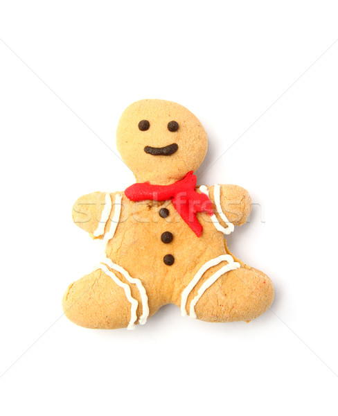 Ginger bread man on white background Stock photo © happydancing
