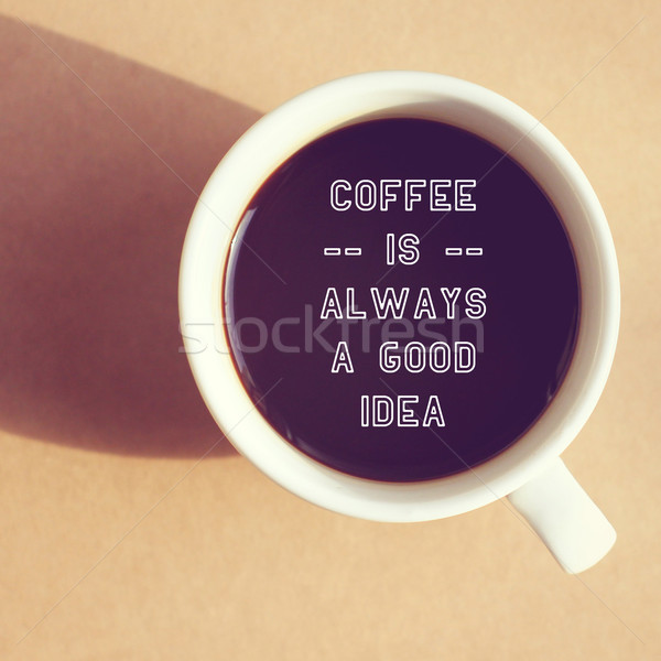 Inspiré citer tasse café rétro filtrer Photo stock © happydancing
