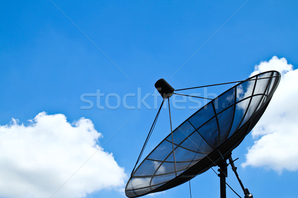 satellite dish with blue sky Stock photo © happydancing