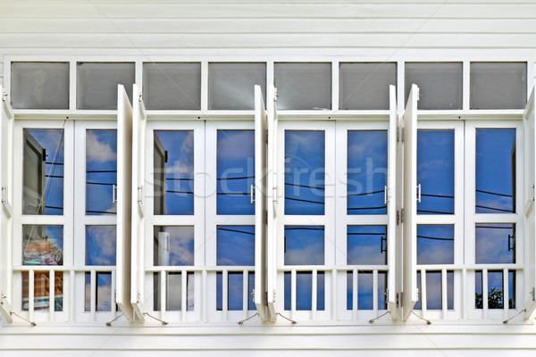 white window with blue sky Stock photo © happydancing
