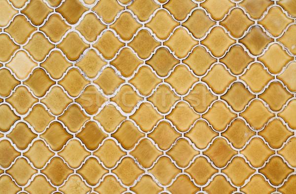 Keramische mozaiek textuur muur abstract frame Stockfoto © happydancing
