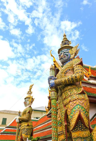 Guardian Statue at Wat Phra Kaew Grand Palace Bangkok  Stock photo © happydancing