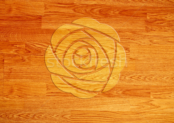 Rose over wooden background Stock photo © happydancing