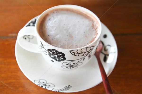 Beker hot voedsel chocolade melk Stockfoto © happydancing