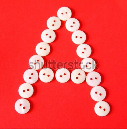 Letra l botones rojo papel resumen diseno Foto stock © happydancing