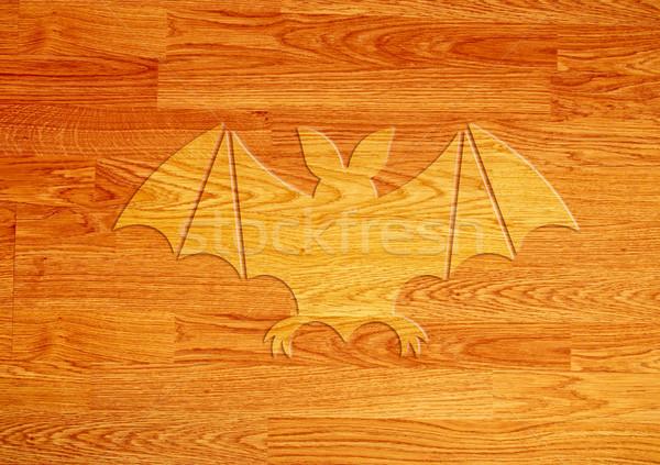 Bate icono madera pared diseno fondo Foto stock © happydancing
