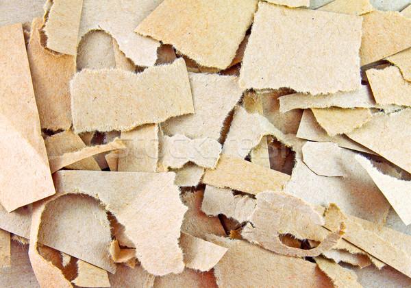 Torn частей грубая оберточная бумага бумаги фон Сток-фото © happydancing