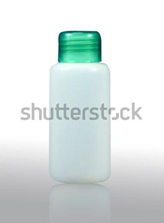 Plastik şişe vücut içmek beyaz Stok fotoğraf © happydancing