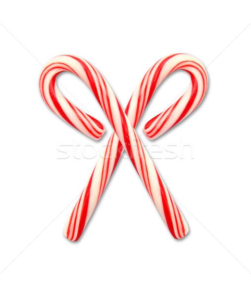 Noel şeker yalıtılmış beyaz mutlu Stok fotoğraf © happydancing