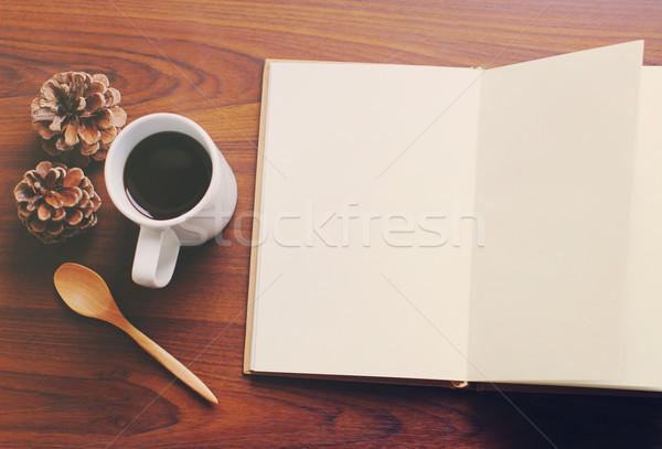Cuaderno café retro filtrar efecto papel Foto stock © happydancing