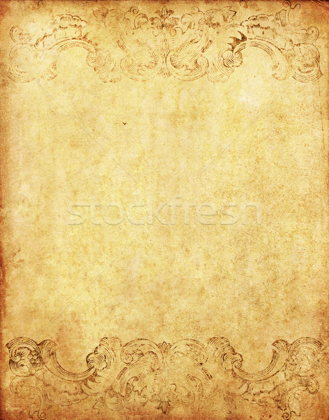 old grunge paper background with vintage victorian style Stock photo © happydancing