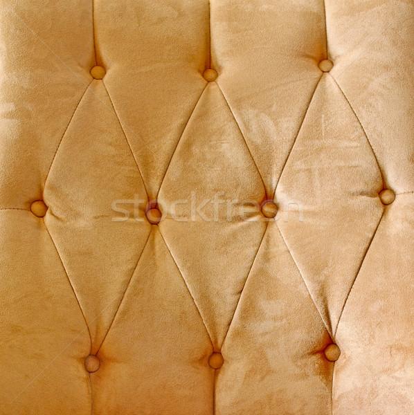 Détail brun glamour cuir vintage canapé Photo stock © happydancing