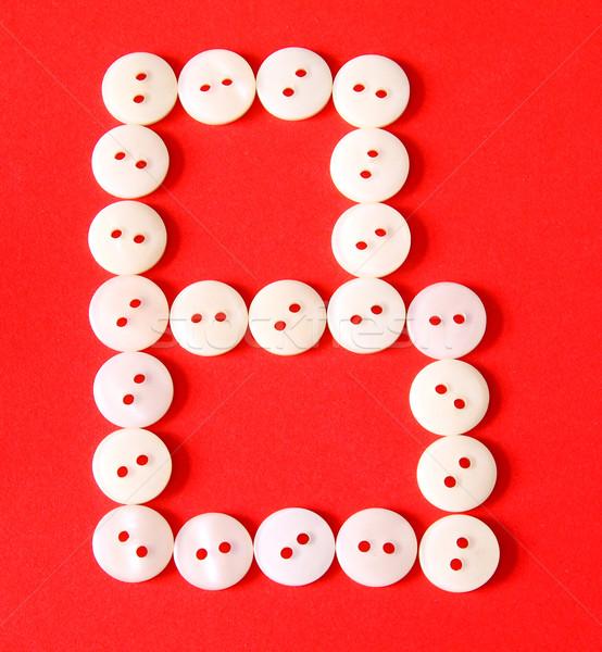 Brief knoppen Rood papier abstract ontwerp Stockfoto © happydancing