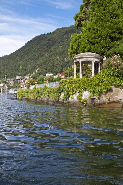 Pavilion at Lake Como, Italy Stock photo © haraldmuc