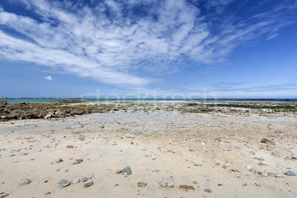 Beach on the island of Herm, UK Stock photo © haraldmuc