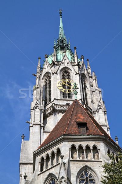 Histórico igreja Munique Alemanha arquitetura gótico Foto stock © haraldmuc