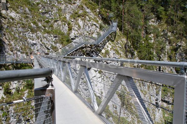 Leutasch Gorge in the German alps, Bavaria Stock photo © haraldmuc