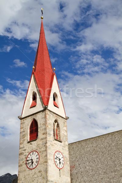 Historic church steeple in South Tyrol, Italy Stock photo © haraldmuc