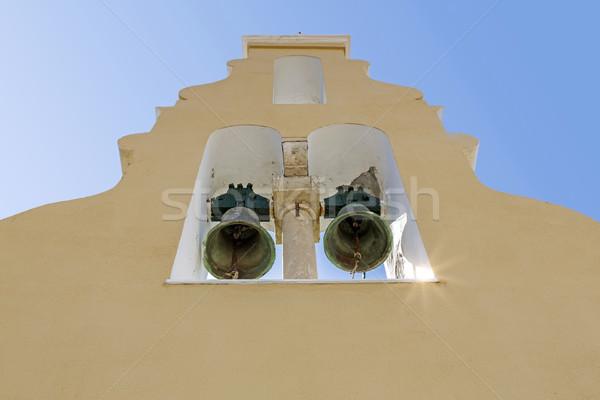 Typical greek church tower on Corfu island, Greece Stock photo © haraldmuc