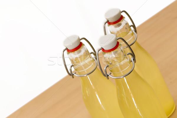 Bottiglie sciroppo alimentare vetro Foto d'archivio © haraldmuc