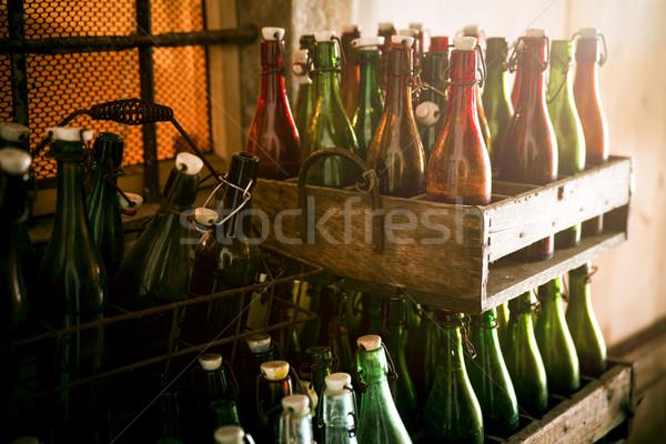 Starych piwa butelek żywności szkła Zdjęcia stock © haraldmuc