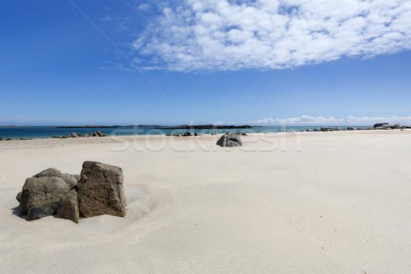 Skał plaży wyspa niebo charakter krajobraz Zdjęcia stock © haraldmuc