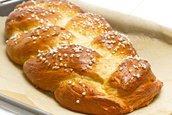 Stock photo: Home made sweet braided bread