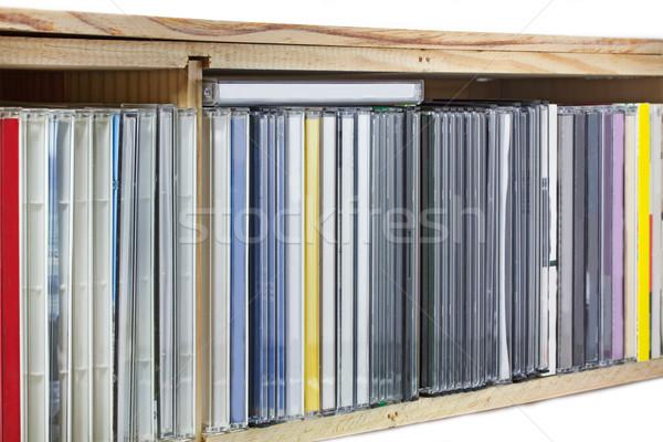 Toplama kompakt cds raf müzik ev Stok fotoğraf © haraldmuc