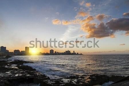 Havana Centro at Sunset Stock photo © haraldmuc