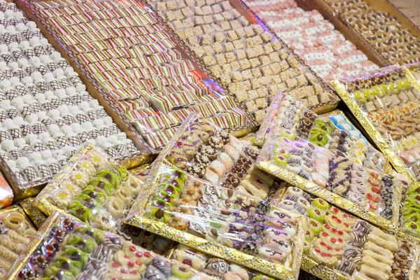 Cookies marché Maroc Afrique bonbons vente Photo stock © haraldmuc