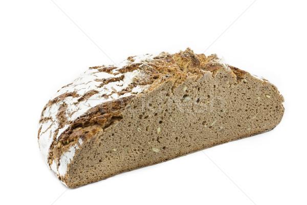 Friss rozs kenyér fehér egészség búza Stock fotó © haraldmuc