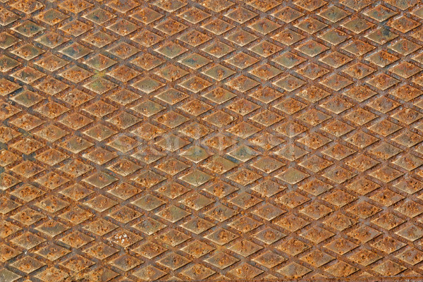 Stock fotó: Rozsdás · fém · gyémánt · tányér · használt · absztrakt