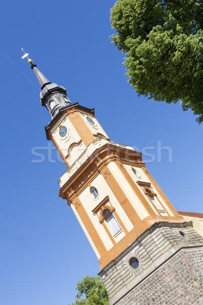 Historic church in Templin city, East Germany Stock photo © haraldmuc