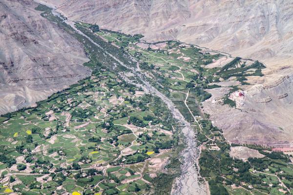 Mountain village, Ladakh, Northern India Stock photo © haraldmuc
