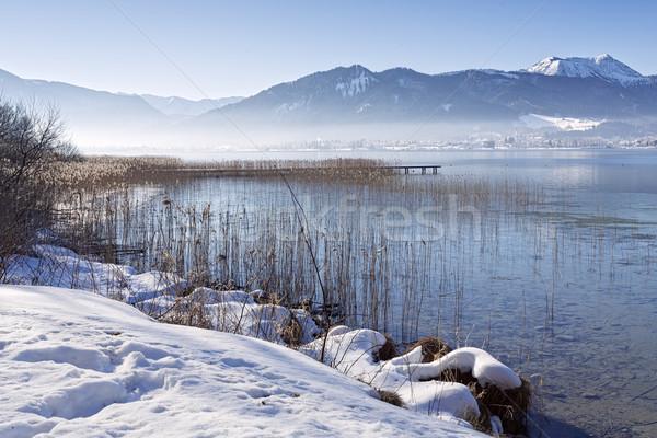 Winter at lake Tegernsee, Bavaria, Germany Stock photo © haraldmuc