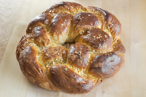 Homemade sweet braided bread Stock photo © haraldmuc